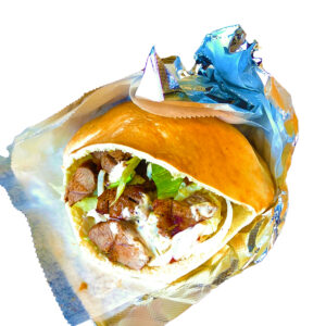 veal & lamb kebab sandwich