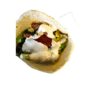 kufta kebab sandwich
